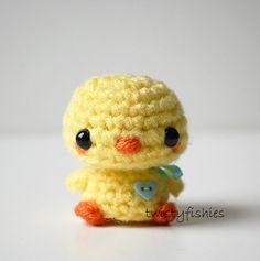 SALE  Kawaii Baby Chick  Mini Amigurumi Plush by twistyfishies, $12.00