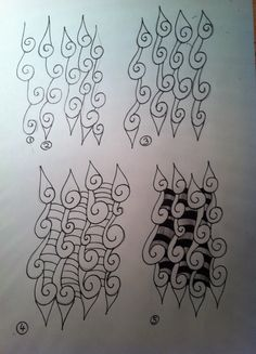 Zentangle stappen patroon met spiralen Zentangle tutorials spiral pattern Mandala Doodle, Tangle Doodle, Tangle Art, Zen Doodle, Doodle Art, Doodle Designs, Doodle Patterns, Zentangle Patterns, Zentangle Drawings