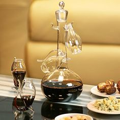 Port Sipper Set with Four Sippers | bar@drinkstuff Port Glasses, Port Sipper Set, Port Sippers, Port Decanter, Liqueur Decanter | Handmade Glass Port Decanter *** Learn more by visiting the image link.