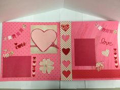 Clever and Cute: I Heart You Scrapbook Pages