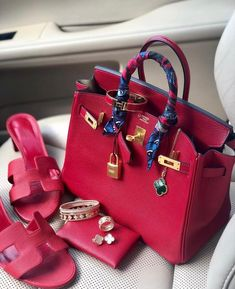 """BopTalk on Instagram: """"Who else is obsessed with this beautiful shade of rouge?🌹💋❣️ 📸 @el4bz #hermes #hermescolors #hermescollector #hermescollection…"""" Hermes Birkin, Bags, Fashion, Handbags, Moda, Fashion Styles, Fashion Illustrations, Bag, Totes"""