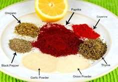 This yummy, spicy Cajun Blackening Seasoning Recipe is a healthy, no (or low) sodium, spice blend mix that will save you money over prepackaged store-bought seasoning mix blends. Cajun Recipes, Salmon Recipes, Seafood Recipes, Cooking Recipes, Diet Recipes, Cajun Seasoning Recipe, Seasoning Mixes, Homemade Seasonings, Homemade Spices