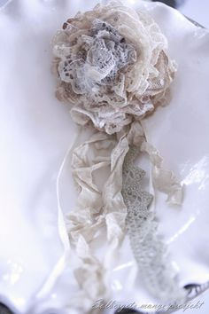 Shabby Chic: Handmade Rose by Line  Cathrin Ekseth