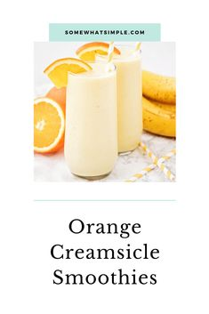 This sweet and refreshing orange creamsicle smoothie is perfect for an easy breakfast or afternoon snack! Filled with fruit and yogurt, it's a healthy and flavorful way to enjoy your favorite frozen creamsicle drink! Orange Creamsicle Smoothie Recipe, Creamsicle Drink, Berry Smoothie Recipe, Fruit Smoothie Recipes, Smoothie Drinks, Healthy Smoothies, Healthy Breakfasts, Healthy Drinks, Healthy Snacks