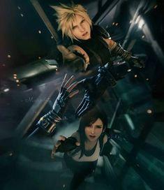Final Fantasy 7 Tifa, Final Fantasy Artwork, Final Fantasy Characters, Final Fantasy Vii Remake, Fantasy Series, Fantasy World, Cloud And Tifa, Cloud Strife, Star Comics