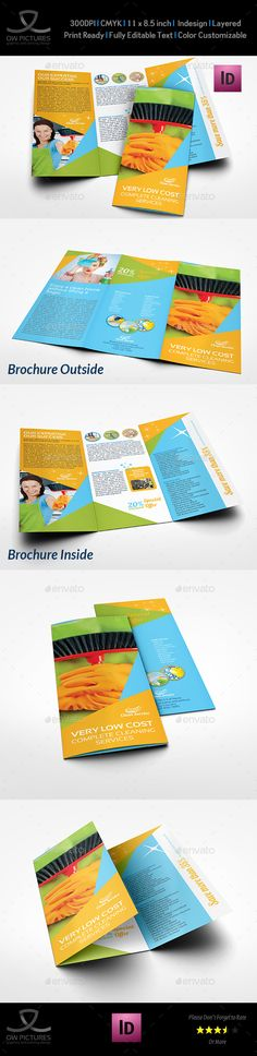 Cleaning Services Tri-Fold Brochure Template Vol.4