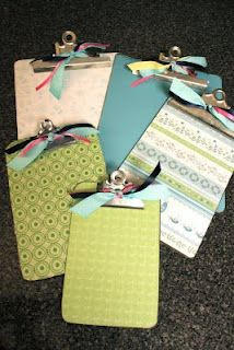 Allred Design Blog: IBP: Creating with Clipboards