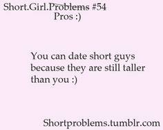 best thing about dating a short girl
