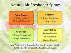 Young Living Essential Oils Natural Air Freshener Spray