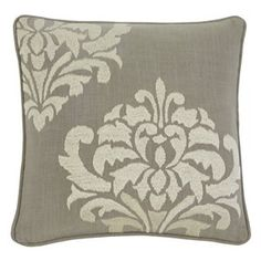Ashley Furniture Damask Pillow Cover in Gray