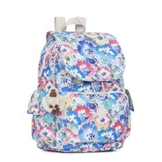Ravier Printed Backpack - In Bloom | Kipling Gear up for every adventure big and small with our Ravier backpack. It's kicked up with cinch cord and magnetic closure for added security, adjustable back straps for customized comfort and multiple compartments to hold everything from your lip gloss to a flashlight.