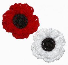 Art Yarn: Remembrance Poppy - Free Crochet Pattern download by Katy Sparrow