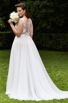 (Foto 14 de 30) Detalle de la parte posterior del modelo Marnie de Wtoo Curve, Galeria de fotos de Vestidos de novia para gorditas: ¡IM-PRE-SIO-NAN-TES!