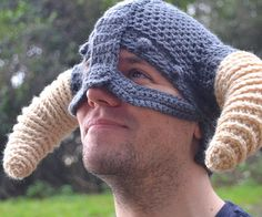 Becoming Dovahkiin is as easy as slipping on the crochet viking helmet. This custom made piece of apparel disguises your mere mortal self with a mighty dragonborn helmet that will also keep you warm during the merciless winter nights.