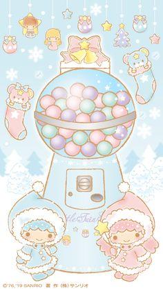 Hello Kitty Iphone Wallpaper, Sanrio Wallpaper, Star Wallpaper, Kawaii Wallpaper, My Melody Sanrio, Hello Kitty My Melody, Little Twin Stars, Hello Kitty Pictures, Christmas Aesthetic Wallpaper