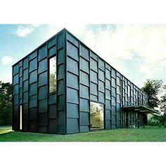 covered in black timber panels... Architects - Tham & Videgård Hansson Arkitekter.
