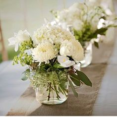 Ivory and green... a floral classic