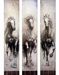 Peindre le cheval et la passion / Painting horse and passion  Explication de la démarche de Léa Rivière. Léa Rivière's artistic  statement.