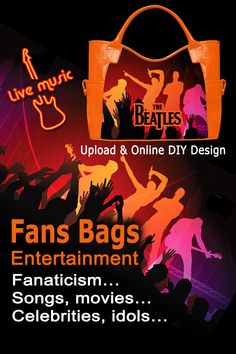 Have loved entertainment object printed on handbags and show the enthusiasm and fanaticism. Besides, you design the bag and there is no duplicate. Get close to loved stars in a creative and unique way, simply upload your image or design and do online DIY design. It is a great idea for fans. #DIYdesign #idolsbags #idolsfans