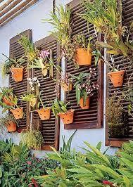 bonito painel para colocar vasos na parede
