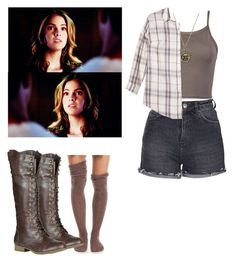 """""""Malia Tate - tw / teen wolf"""" by shadyannon ❤ liked on Polyvore featuring Topshop, Free People, Ava & Viv and Refresh"""
