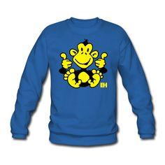 Affe Männer Pullover. #monkey #sweater #Spreadshirt #Cardvibes #Tekenaartje #SOLD