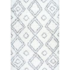 nuLOOM Layton White Shag Area Rug