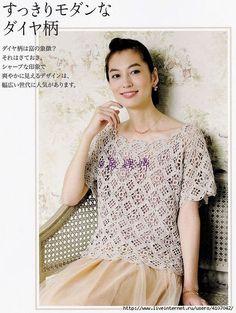 2 (527x700, 253Kb) Crochet Shirt, Crochet Top, Crochet Summer, Crochet Clothes, Lace, Pattern, Shirts, Tops, Dresses