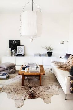calm white living room