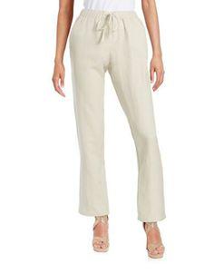 Context Drawstring Linen Pants Women's Pacific Sand Small