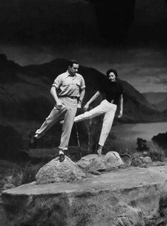"Gene Kelly and Cyd Charisse - behind the scenes of ""Brigadoon"""