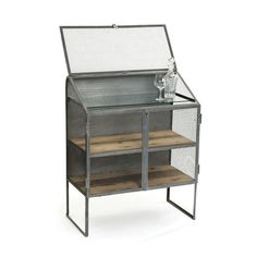 "Bachelors Bureau is perfect for display or storage products made from steel and has vintage industrial finish.It can b place in kitchen. - 36""L x 18.25""D x 45""H - Material: Steel - Finish: Vintage Ind"