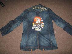 Ed Hardy Denim Jacket Eagle Death or Glory XL XLarge NEW  EdHardy   DenimJacket cfae4a3136d