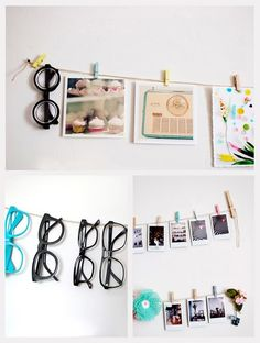 Pegs for glasses/sunglasses. bedroom under jewelry organizer...Teens extras.that they switch out often.