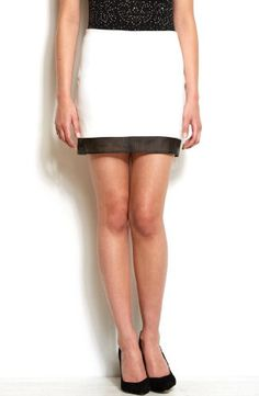 Armani Exchange Womens Perforated Trim Skirt | Style I Need