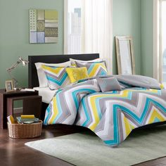 Eliana Comforter Set (Twin/Twin Extra Long) Multicolored - 4pc,