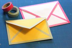 Brinner - The Blog: Washi tape envelopes - a tutorial