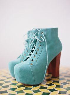 Jeffrey Campbell wedding heels! // photo by Braedon Photography