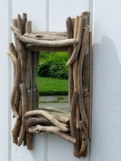 Small Handmade Driftwood Mirror.
