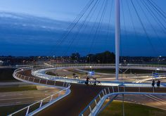 cycle infrastructure documents the world's foremost bike routes - bridge in delft, the netherlands
