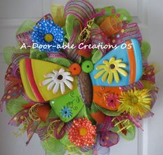 Use Coupon Code At Checkout..whimsical Butterfly Wreath