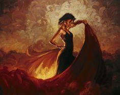 Flamenco del fuego <la gitana>