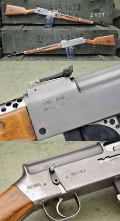 Italian prototype battle rifle from Marked MOD Manufacturer unknown. Military Weapons, Weapons Guns, Guns And Ammo, Firearms, Shotguns, Homemade Weapons, Battle Rifle, Cool Guns, Le Far West