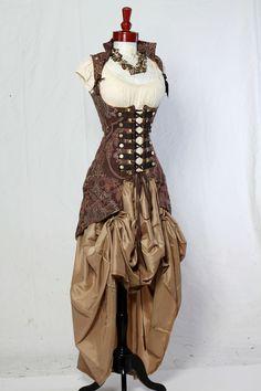 Waist 2931 Brown Medallion Vixen Pirate Coat by damselinthisdress. $329.00, via Etsy.