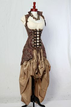 Waist 2931 Brown Medallion Vixen Pirate Coat by damselinthisdress. $329.00, via Etsy.