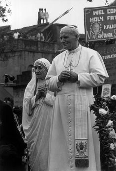 Pope John Paul and Mother Theresa