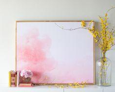 Pink Cloud Canvas