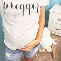 PREGGERS tee by @ilycouture ilycouture.com worn by: @megannjayneee