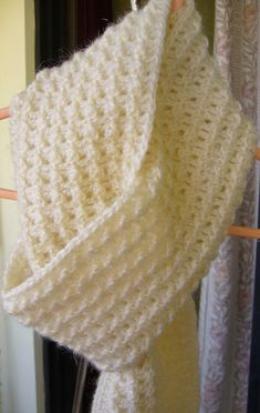 Crochet Textured Scarf