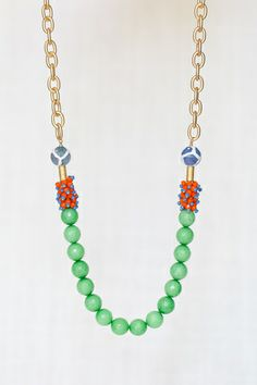 Flourish + Fete Shirley Necklace with Gold Chain